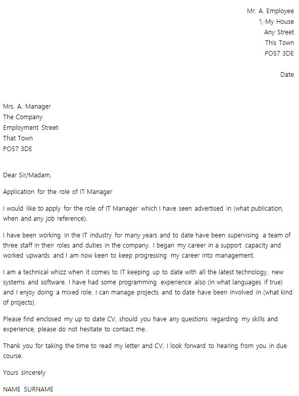 best cover letter layout