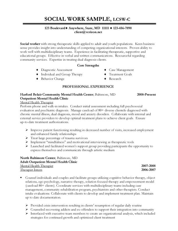 Lcsw Resume Sample social Service Resume Free Excel Templates