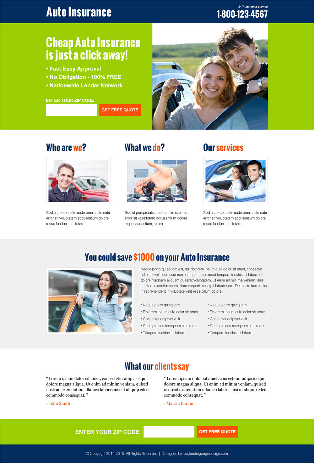best landing pages to capture auto insurance leads and sales 2016