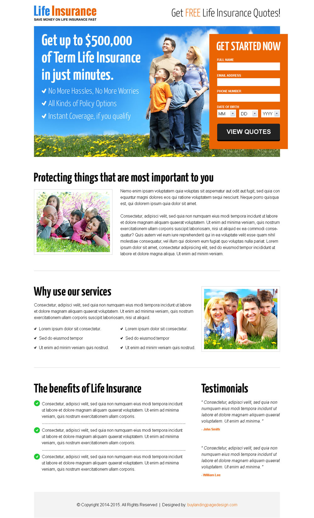 Lead Capture Page Templates Free Life Insurance Quote for Free Lp 011 Life Insurance