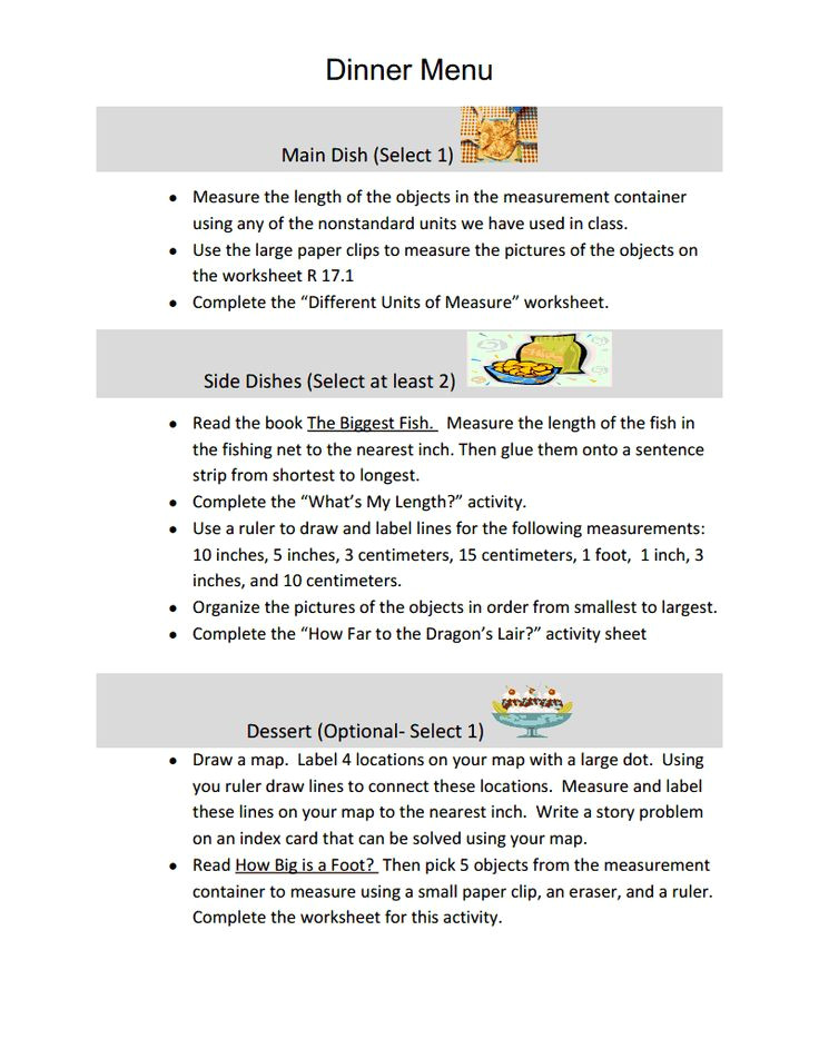 learning menus