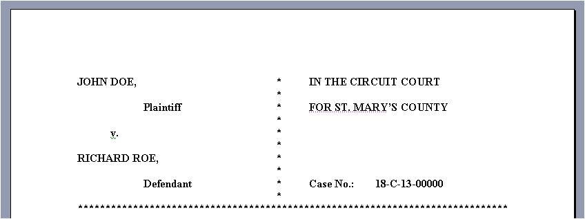 legal complaint template word