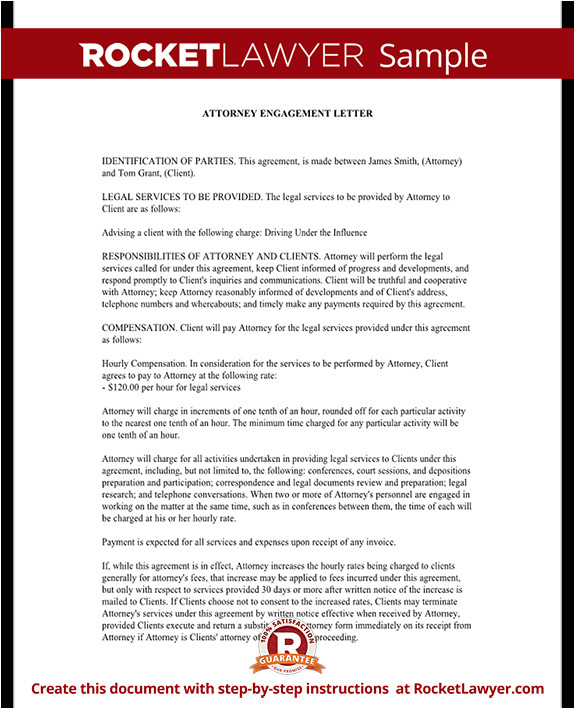attorney engagement letter rl