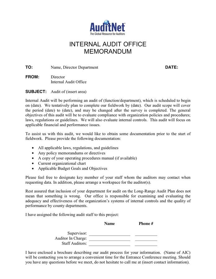 audit engagement letter template