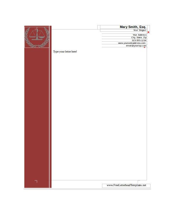 sample letterhead template