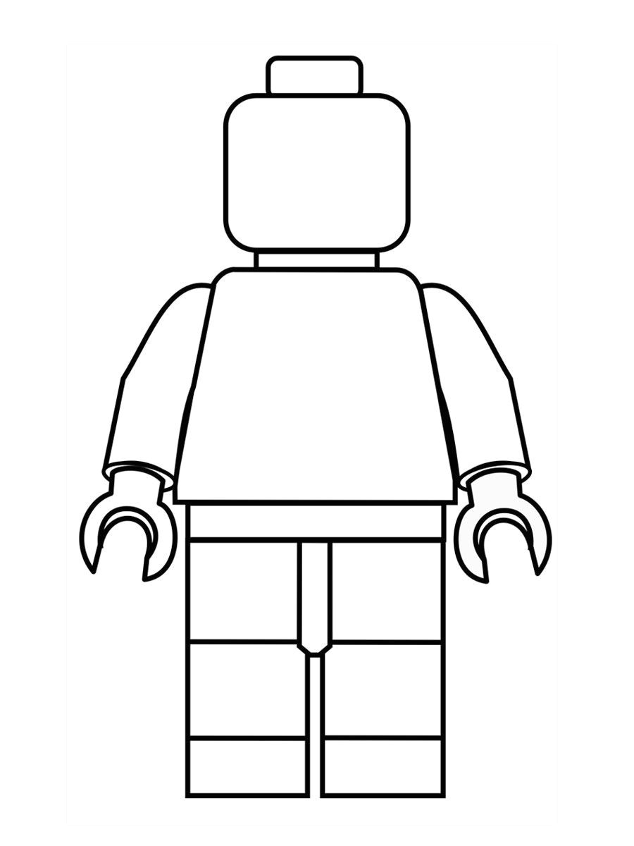 Lego Figure Template Kids Can Design their Own Lego Minifigure Hours Of