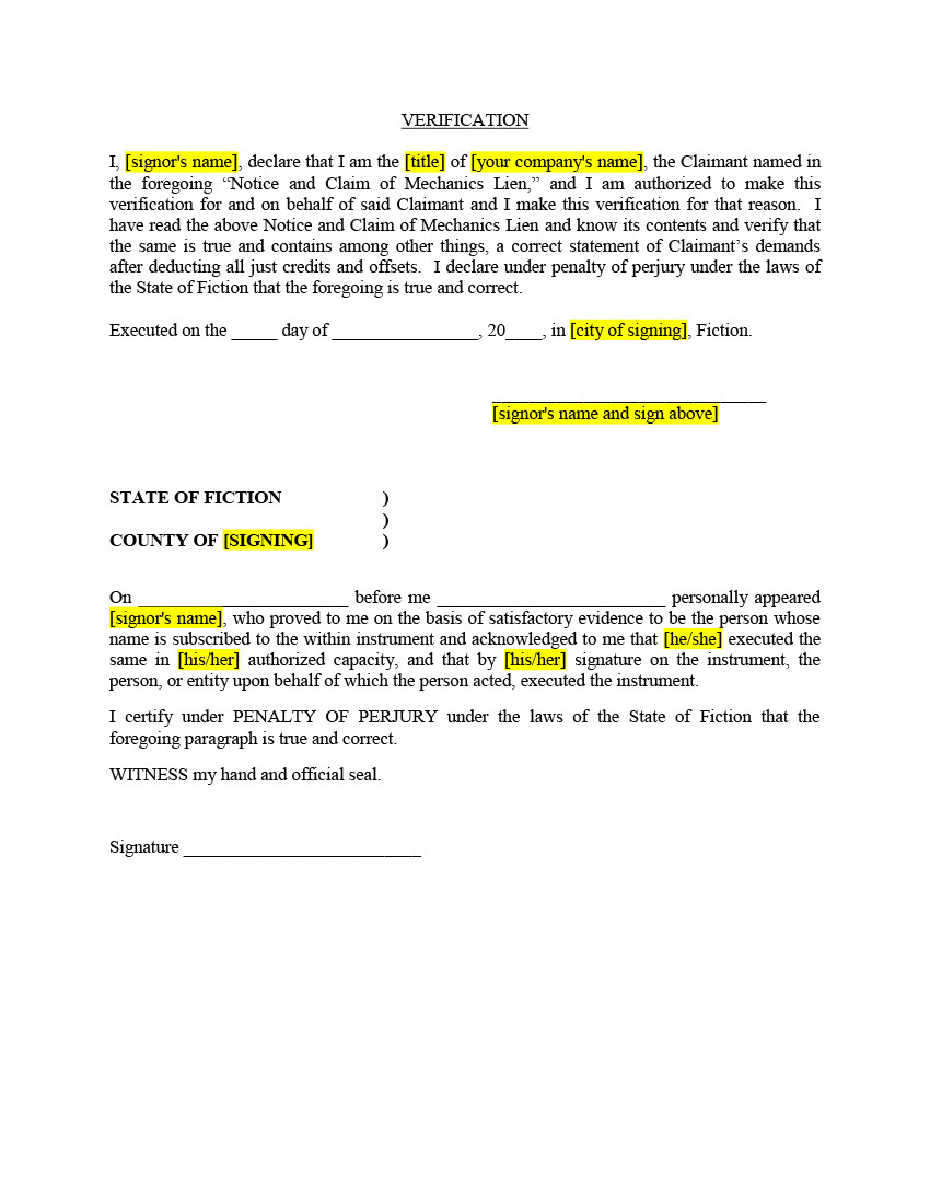 texas lien documents and video instructions commercial gc or sc