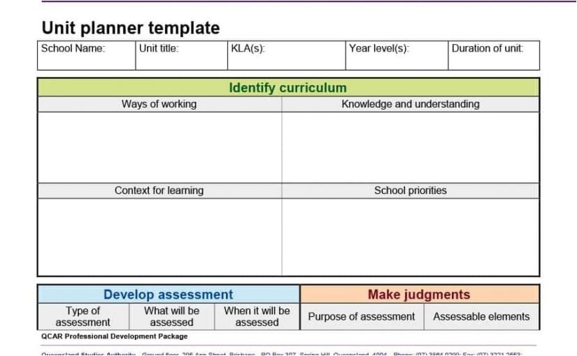 lesson plan template qld