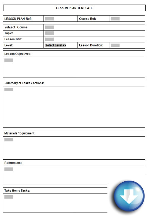 Lessonplan Template Free Downloadable Lesson Plan format Using Microsoft Word