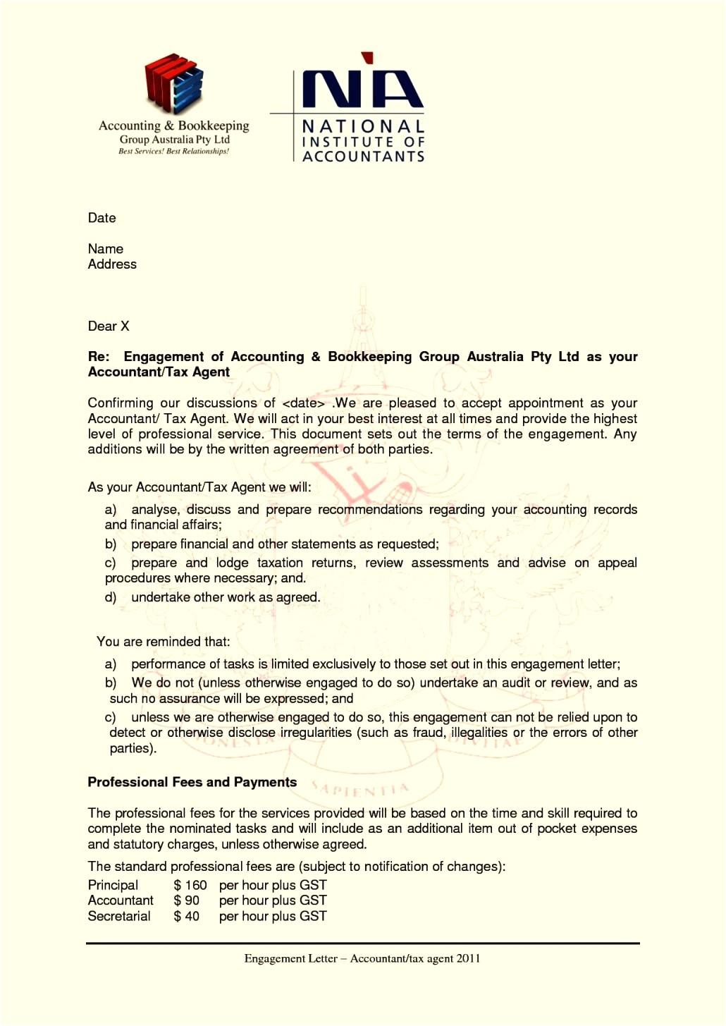 tax preparation engagement letter template
