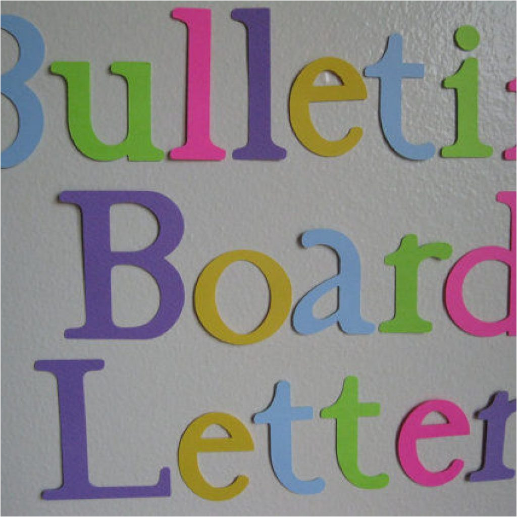 great printable bulletin board letters