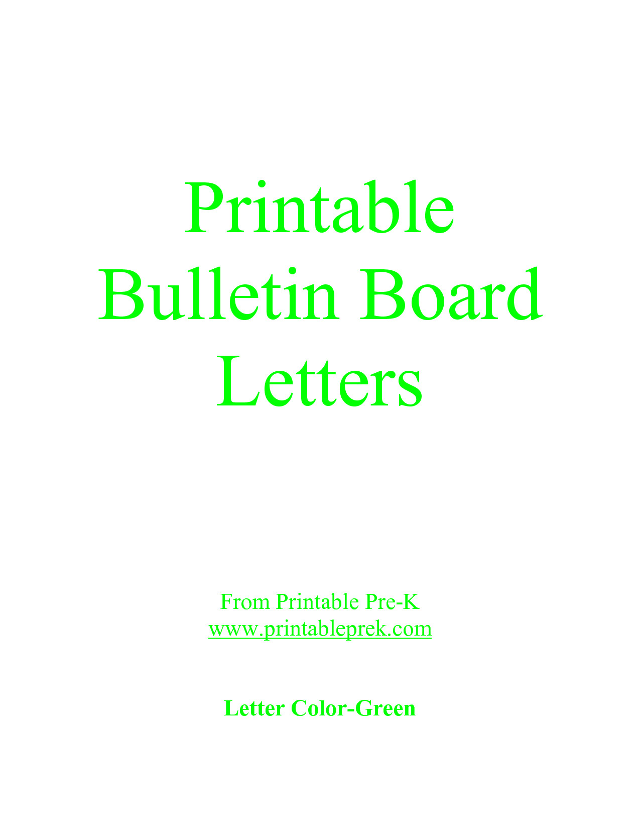 Letters for Bulletin Boards Templates Letter Printable Images Gallery Category Page 17