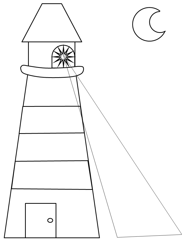 Lighthouse Template Craft Lighthouse at Coastline Coloring Pages Gianfreda Net
