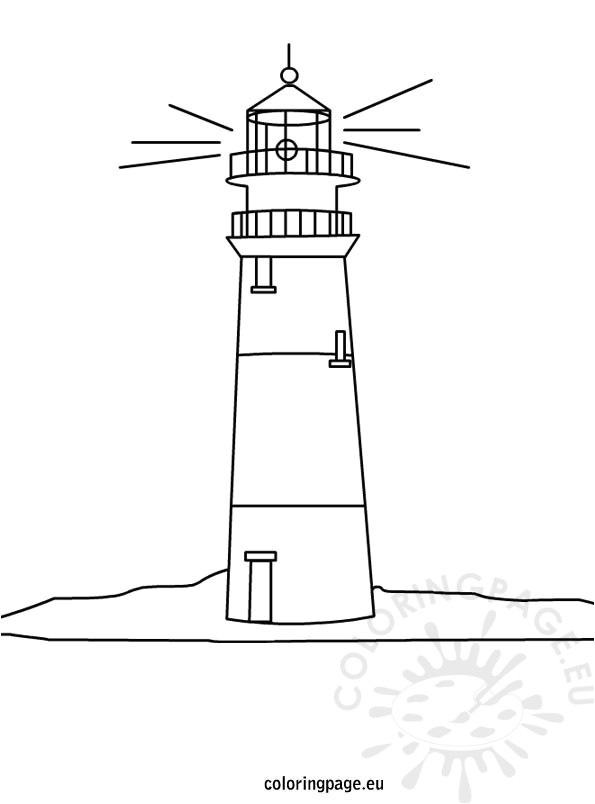 Lighthouse Template Craft Lighthouse Coloring Page