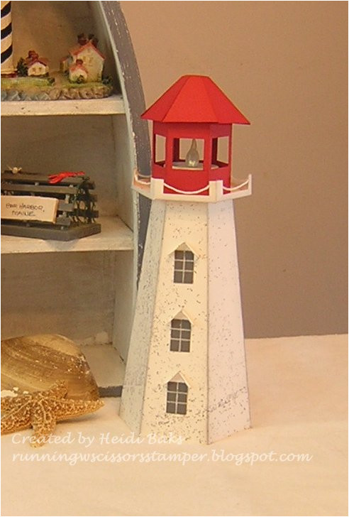 Lighthouse Template Craft Runningwscissorsstamper 3 D Thursday Lighthouse