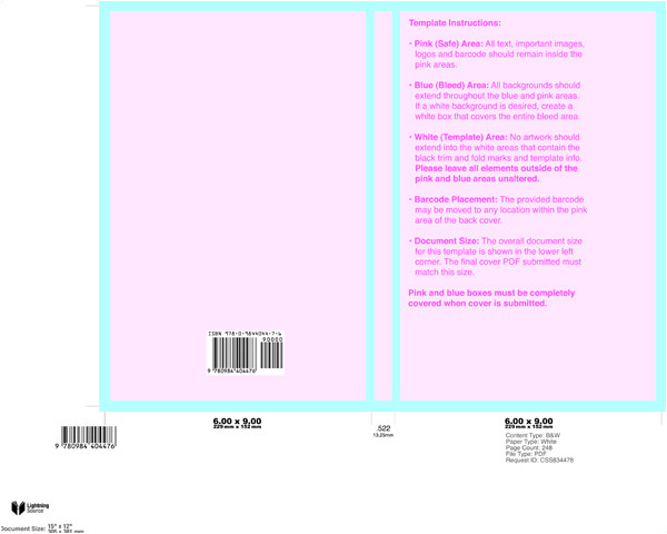 Lightning source Cover Template New Lightning source Cover Templates format A Book