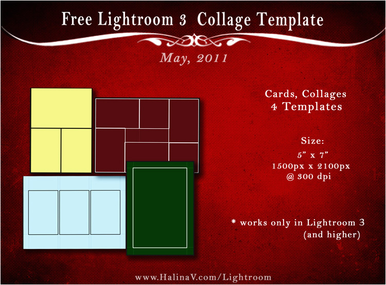 may 2011 free lightroom 3 photo card templates