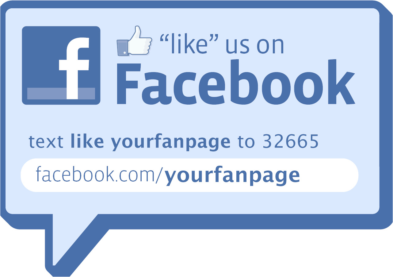 make your own facebook like decal or sign
