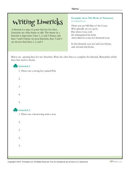 writing limericks