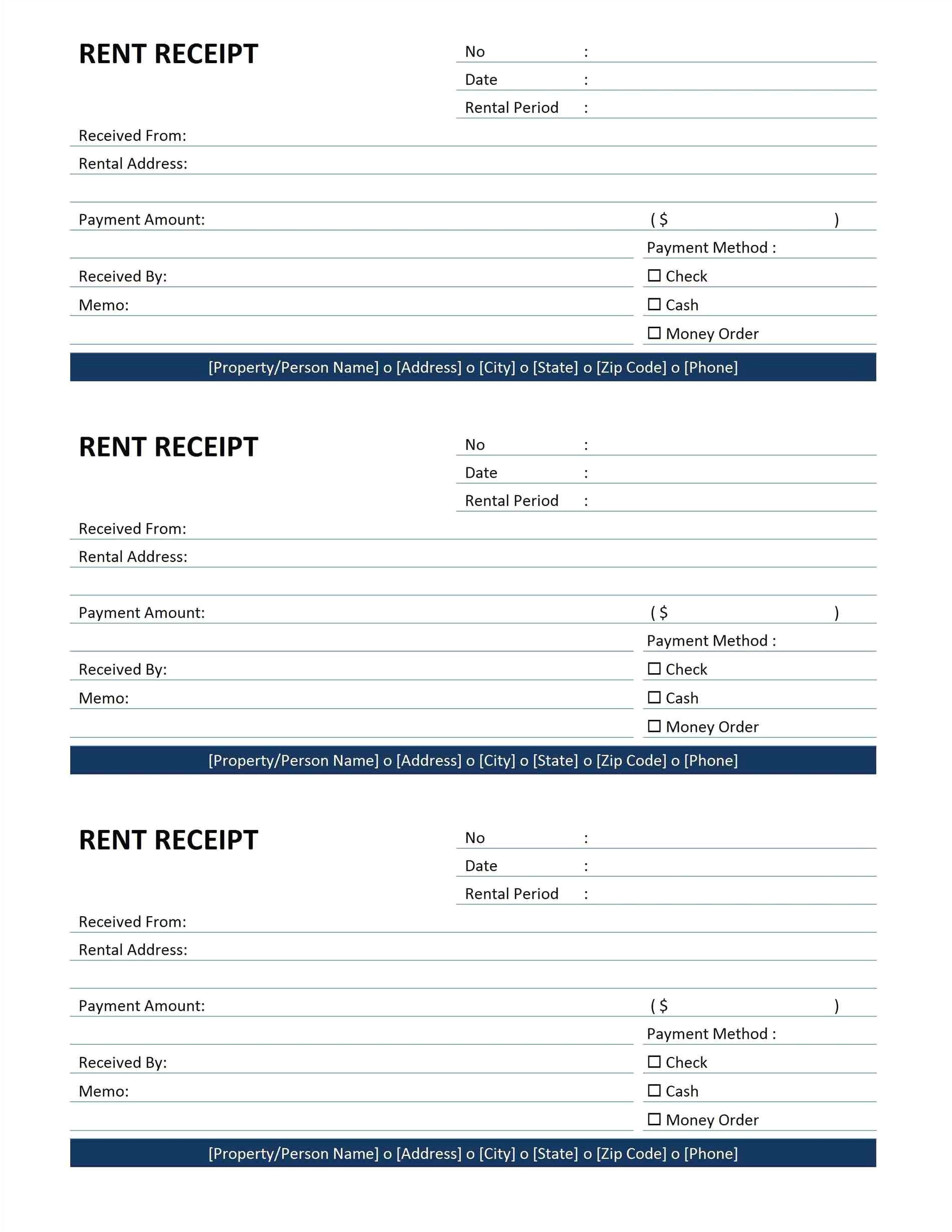 limo receipt template
