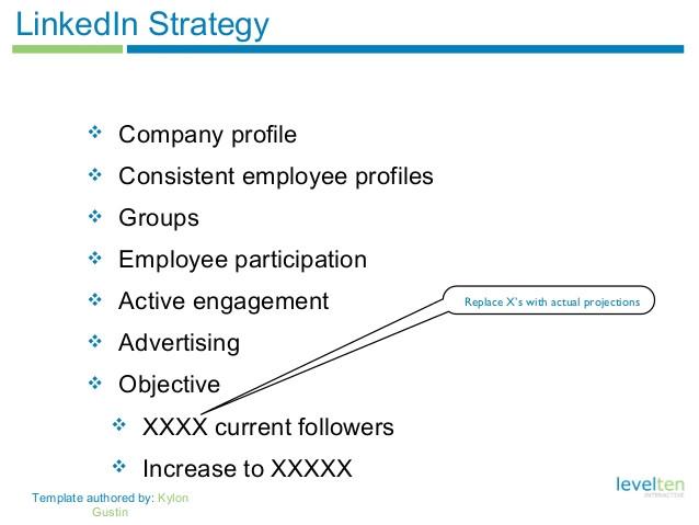 Linkedin Strategy Template social Media Strategy Template