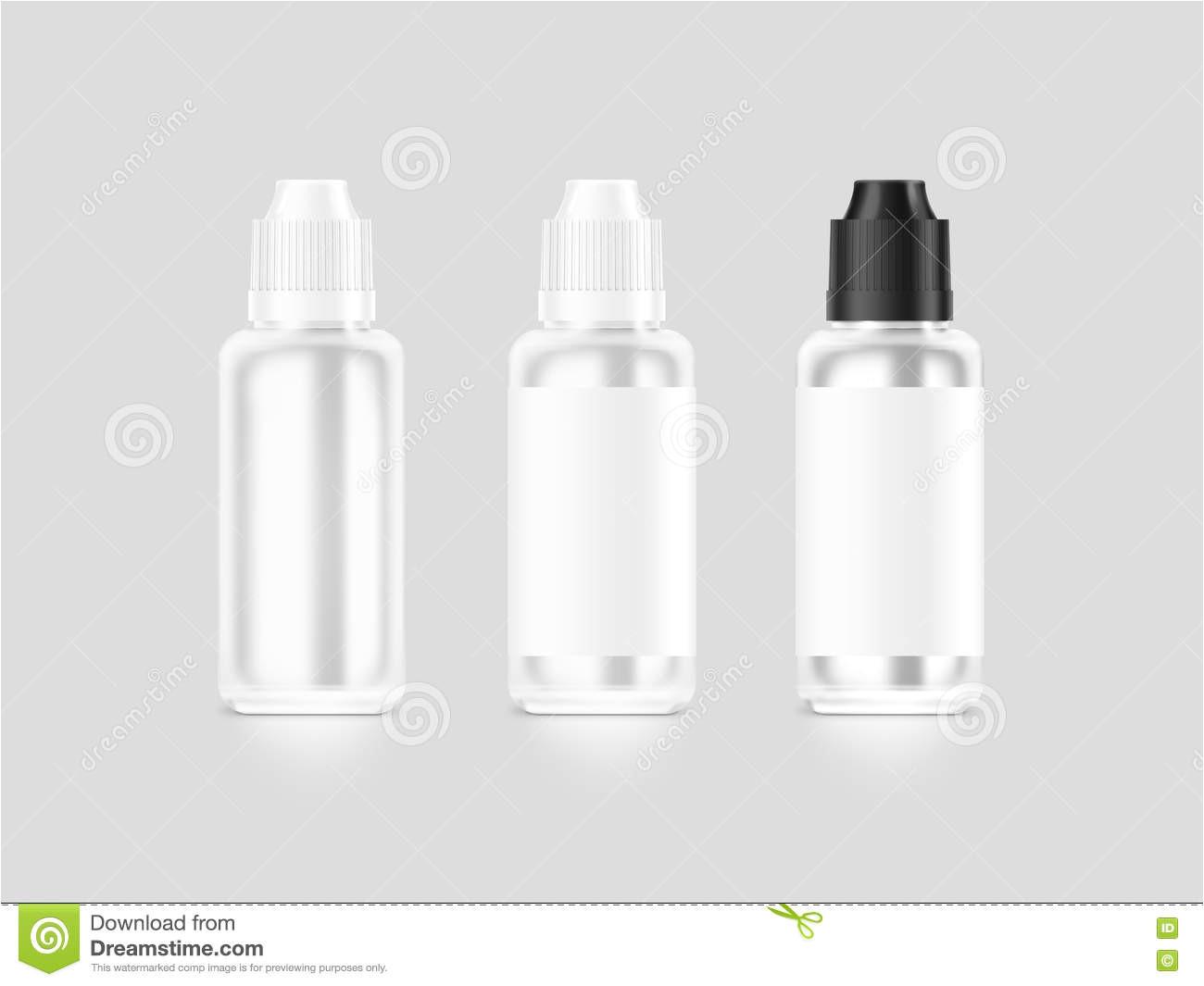 medical bottle preparation isolated white