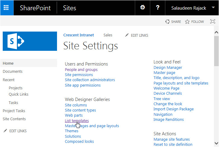 how to upload list template in sharepoint