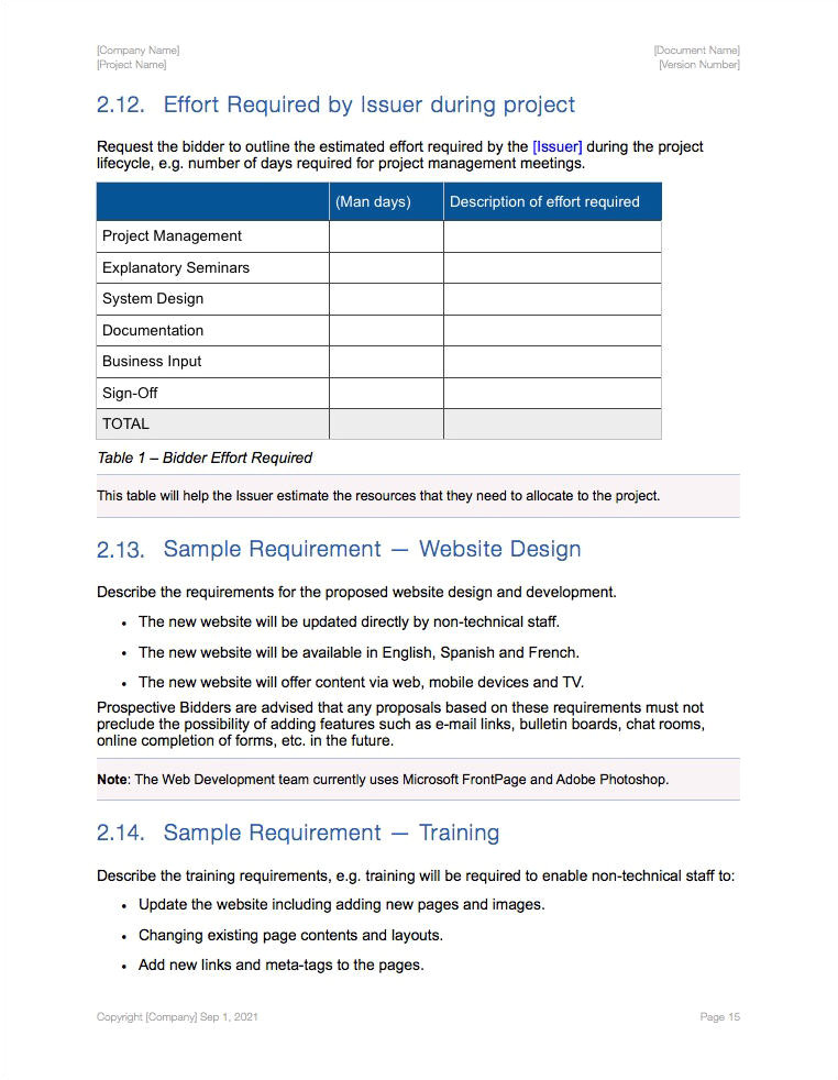Lms Rfp Template Rfp Template About Our Free Lms Rfp Template Free