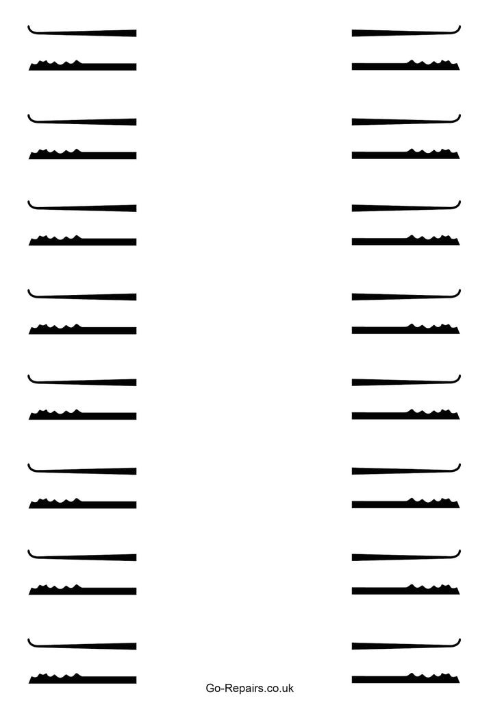 lock pick rake template