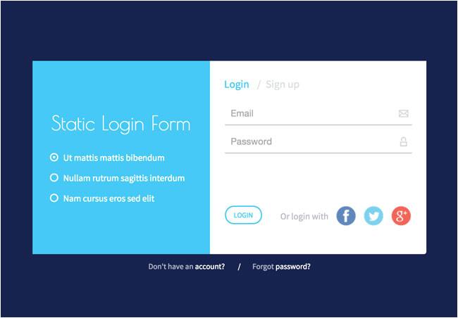 html login form templates
