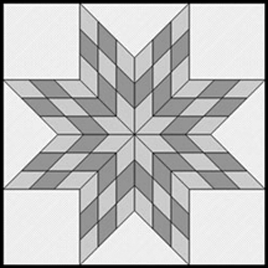 Lone Star Quilt Pattern Template Resizing Your Scrappy Lone Star