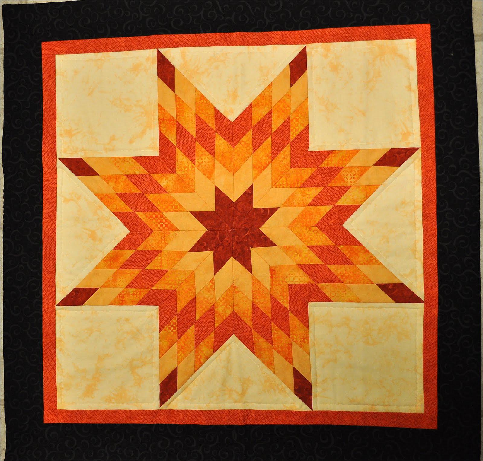 orange lone star quilt