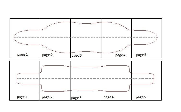 drop through longboard template