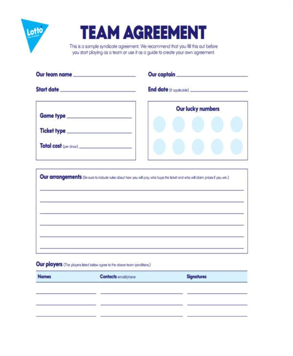 Lottery Syndicate Agreement Template Word Lottery Syndicate Agreement Template Word 28 Images