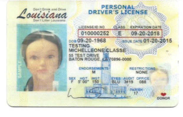 fresh design elements on louisianas new drivers license and id card