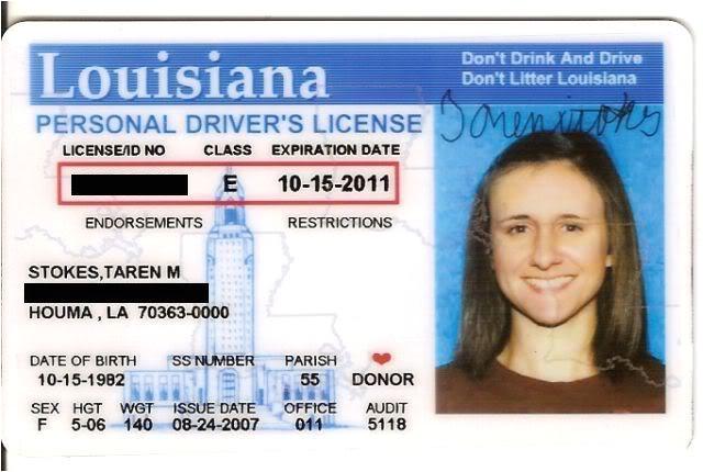 Louisiana Id Template Revamp Id