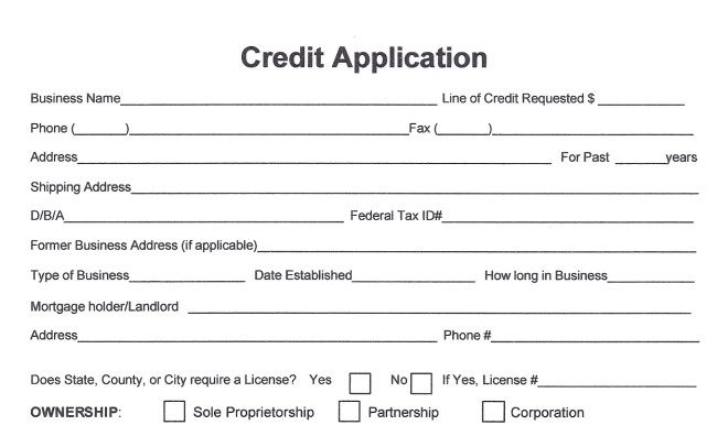 Lowe's Receipt Template Business Credit Application Template Free Image