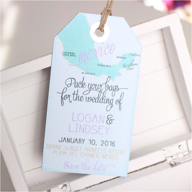 Luggage Tag Invitation Template 17 Best Ideas About Destination Wedding Invitations On