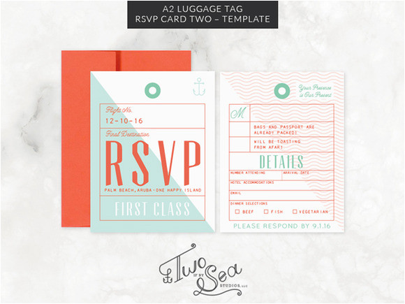 241450 a2 luggage tag rsvp card template