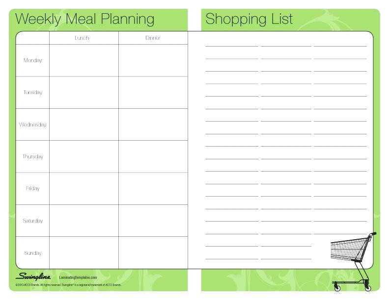 7 8 meal planner template