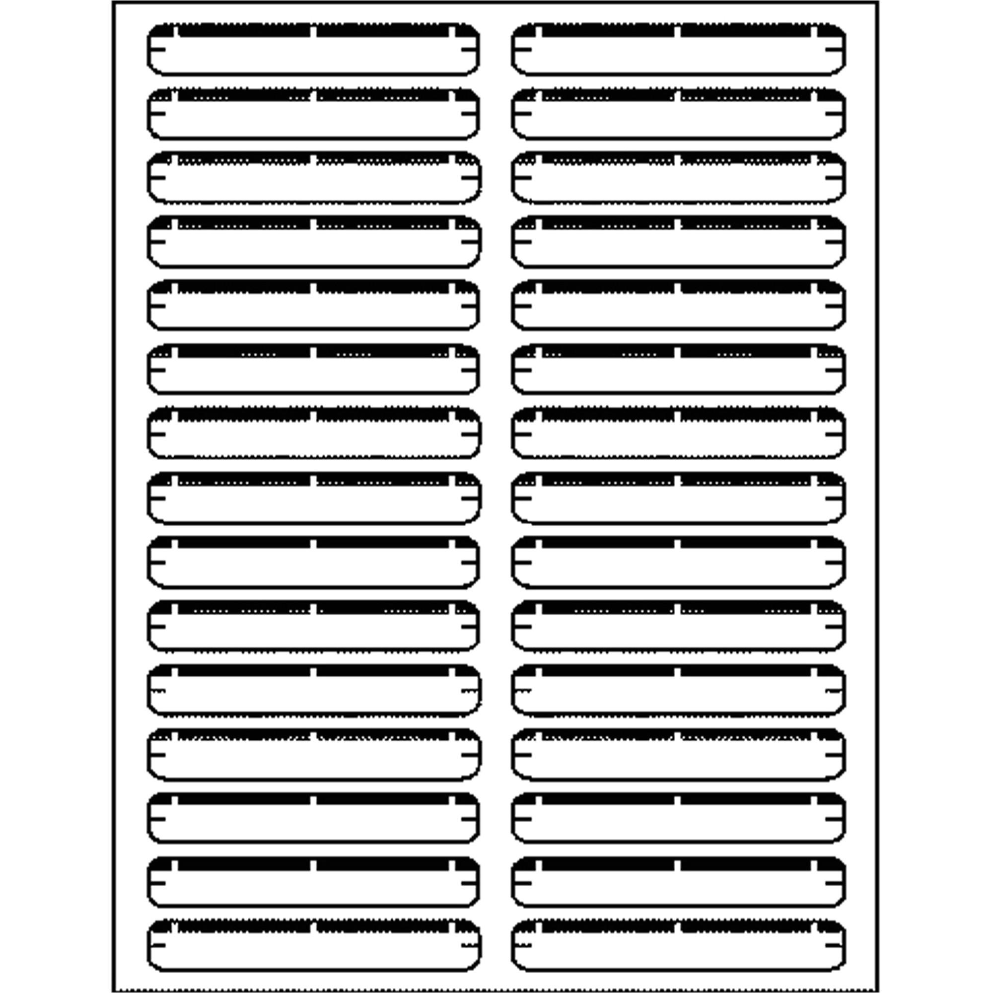 maco assorted laserinkjet file folder labels macmlff31