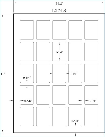 maco printing labels template