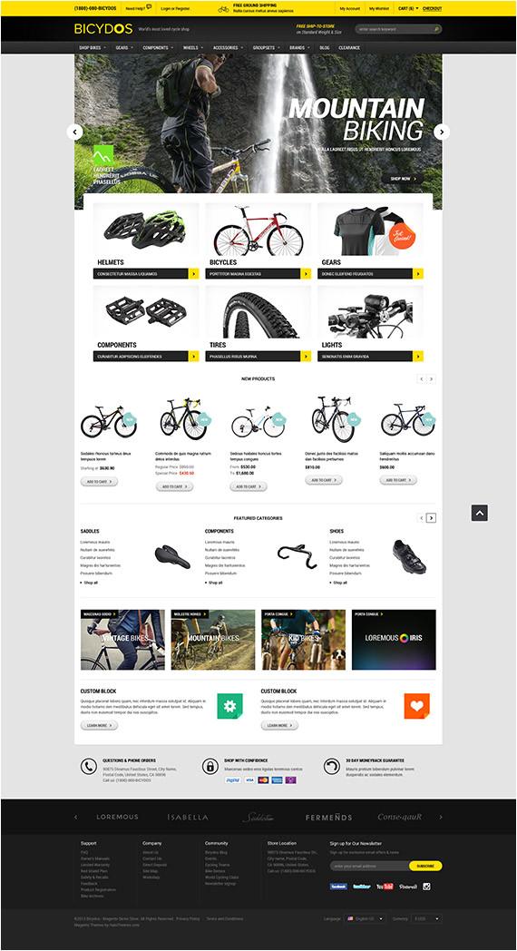 halo bicydos bike store responsive magento ce template released