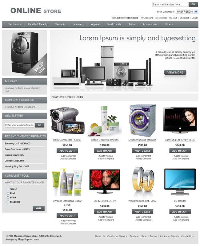 Magento Community Templates Magento Community Templates 10 Best Magento Free themes