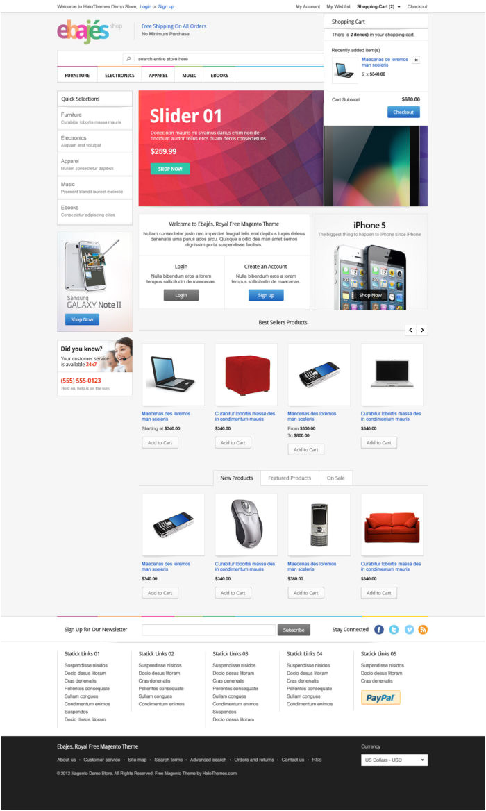 magento sales emails templates