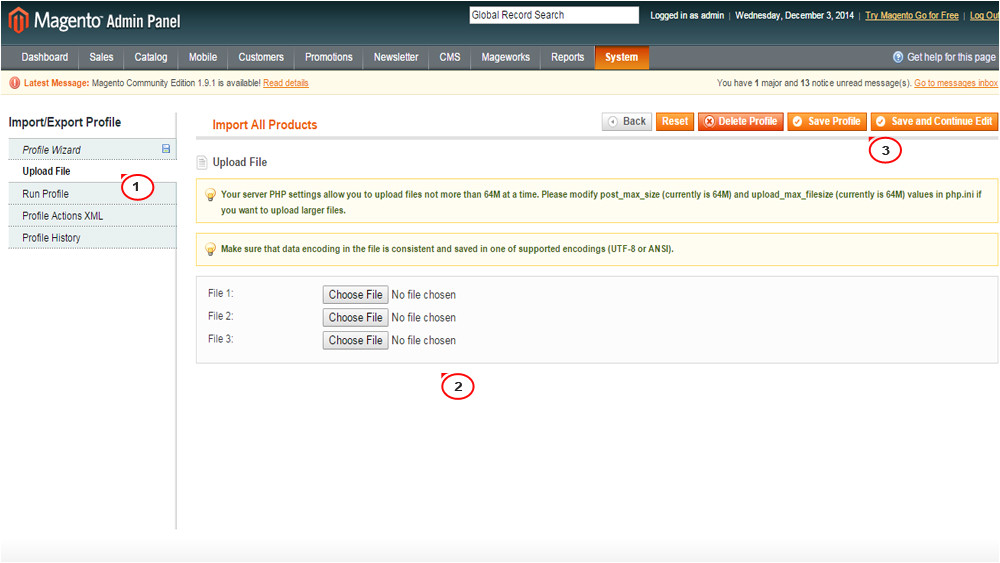 magento how to exportimport data in csv files