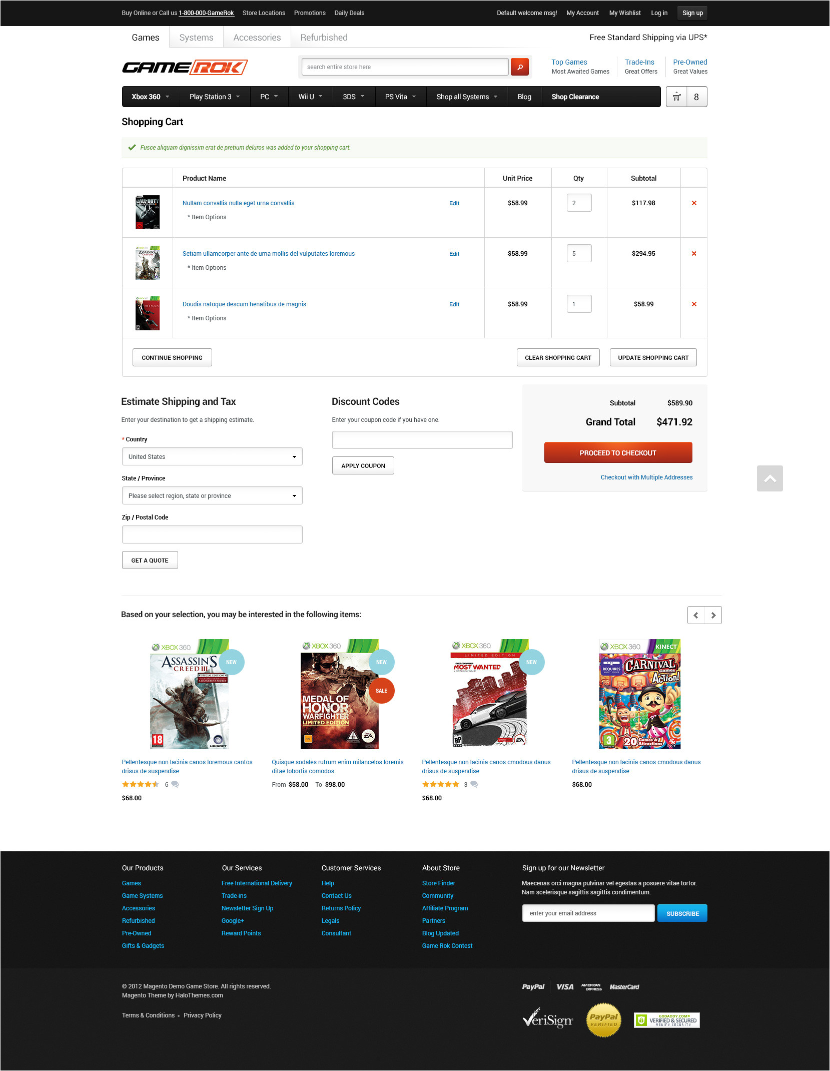 halo gamerok responsive game store magento ce theme