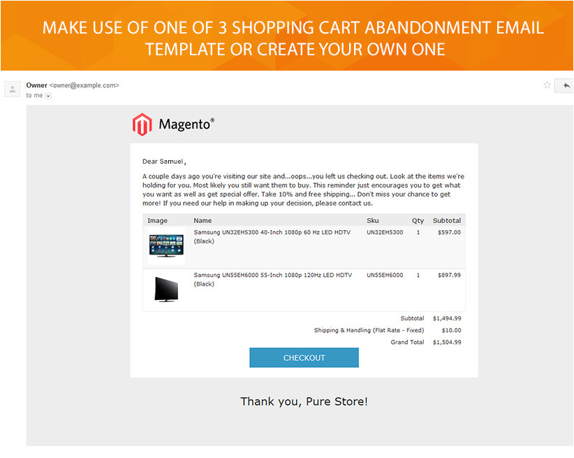 Magento Shopping Cart Template Magento Abandoned Cart Extension 79 Free Installation
