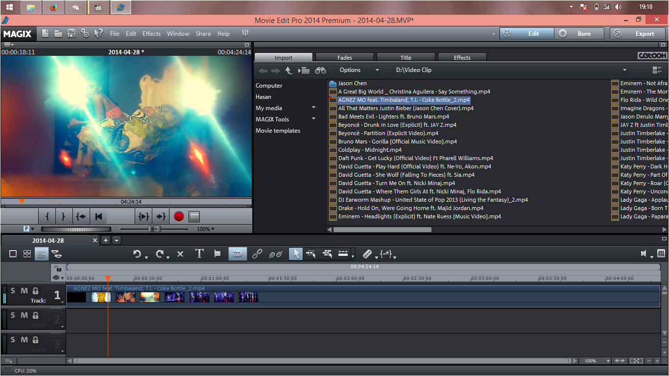 magix movie edit pro templates