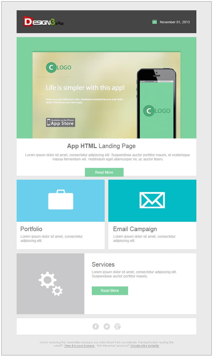 email newsletter templates psd